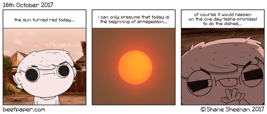 16th October 2017 – Red Sun